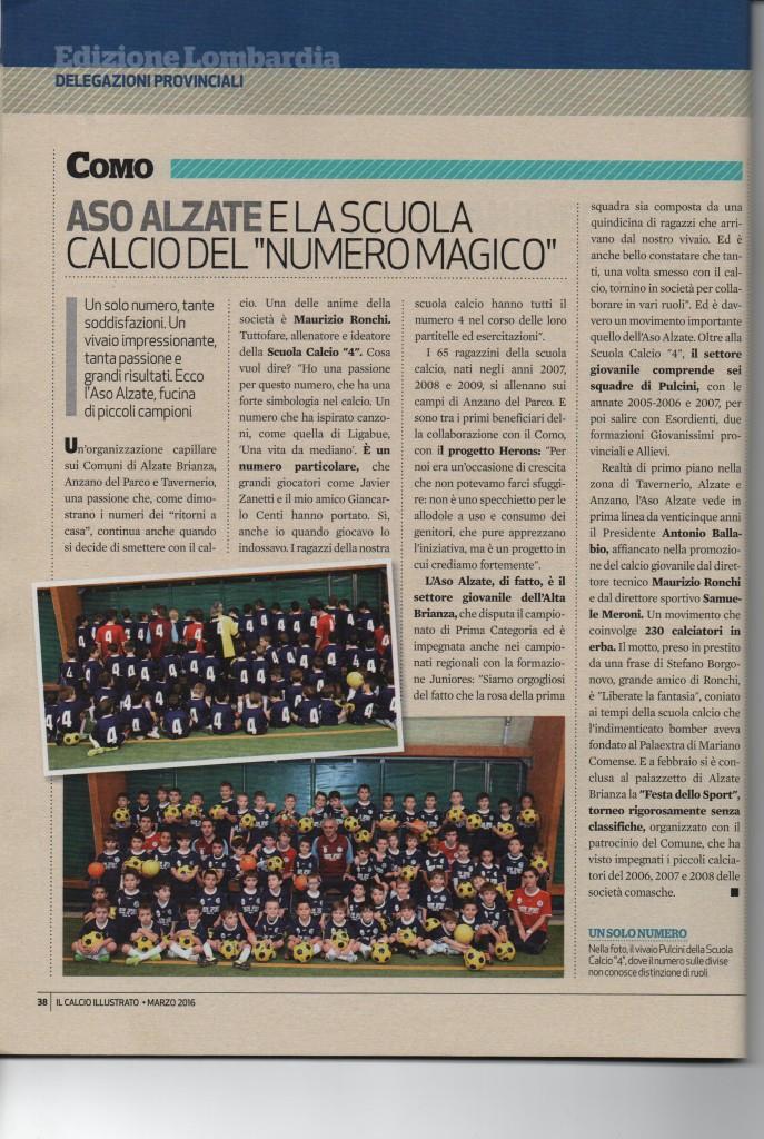 articolo scuola calcio